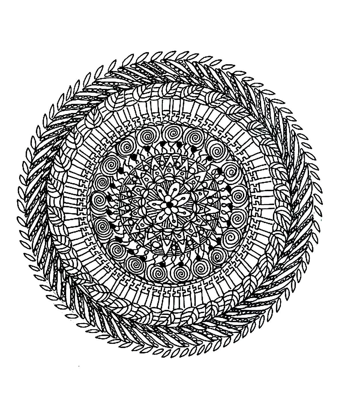 Coloriage Mandala Tres Difficile A Imprimer | Coloriages À encequiconcerne Coloriage Magique Dur