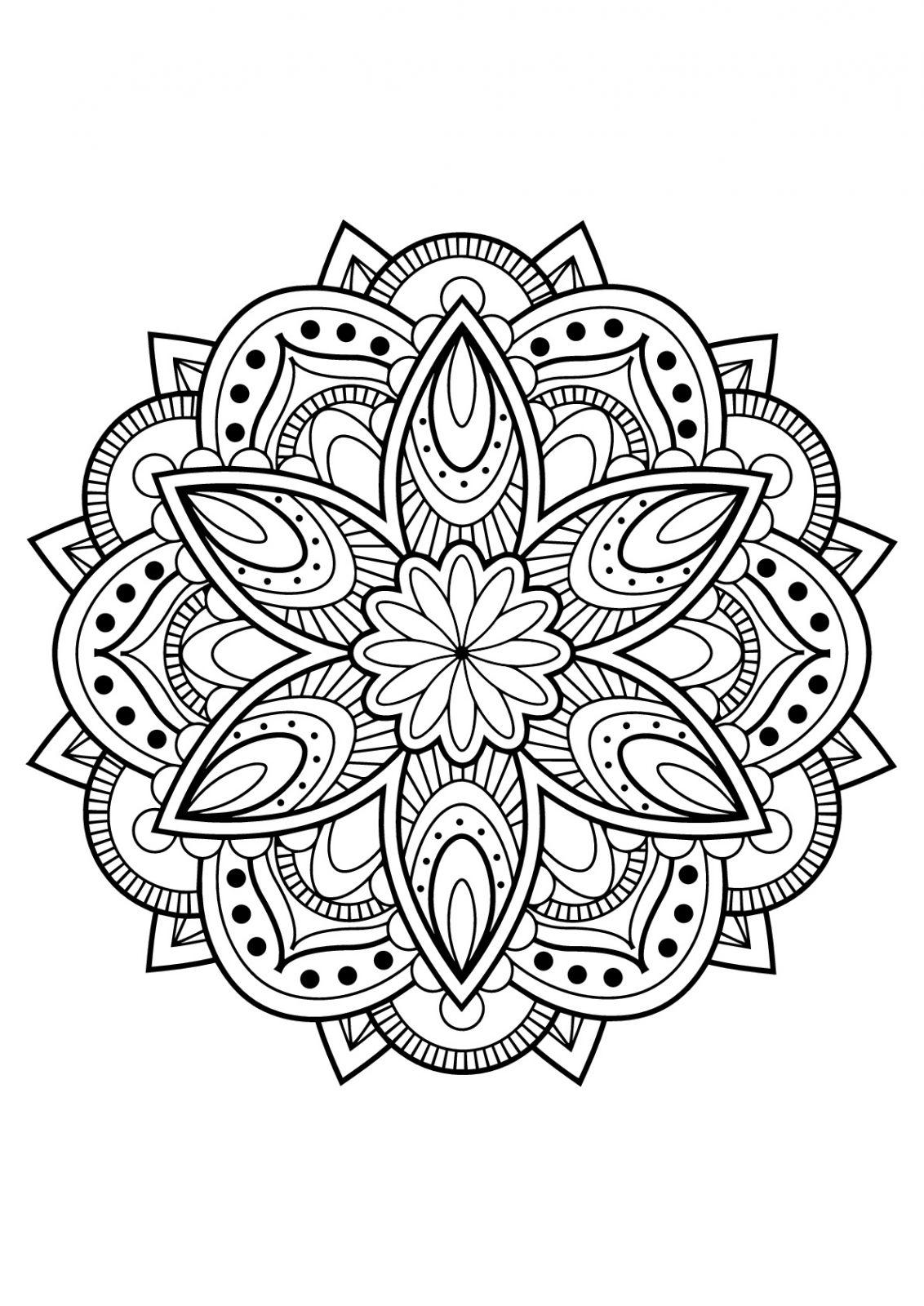 Coloriage Mandalas Imprimer Pour Adulte | Coloriages À à Dessin A Imprimer Pour Adulte