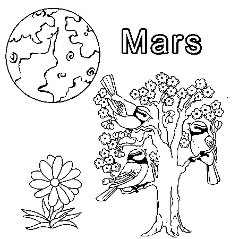 Coloriage Mars En Ligne Gratuit À Imprimer destiné Mois À Colorier Maternelle