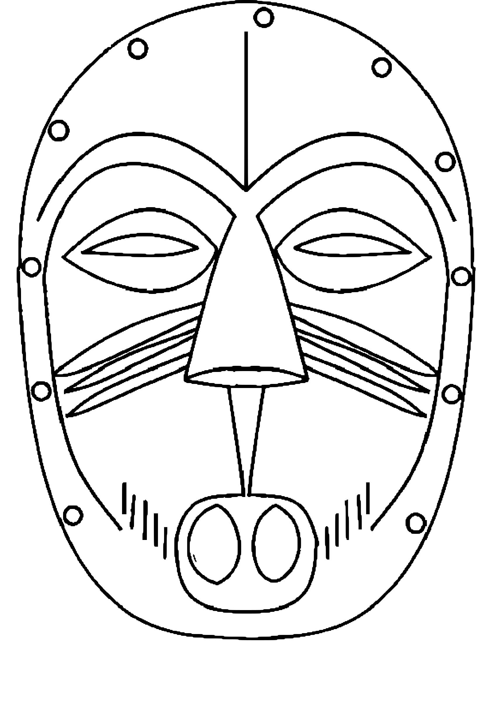 Coloriage Masque Afrique À Imprimer à Coloriage Afrique À Imprimer