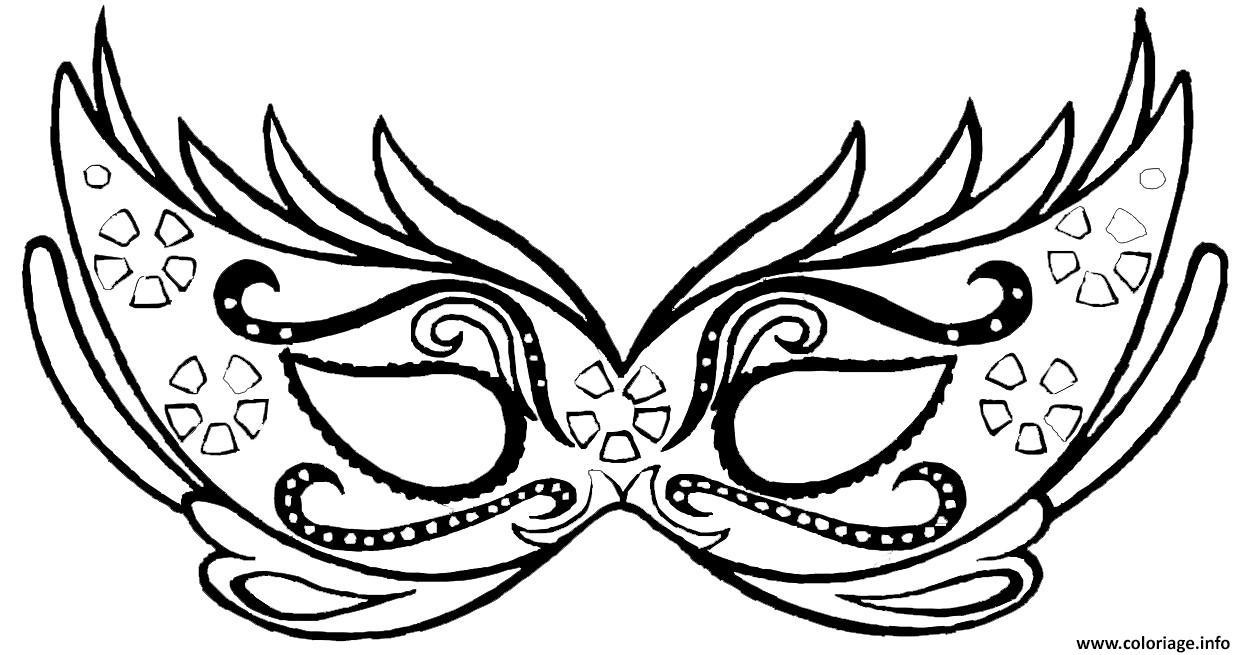 Coloriage Masque Carnaval Dessin pour Masque Papillon À Imprimer