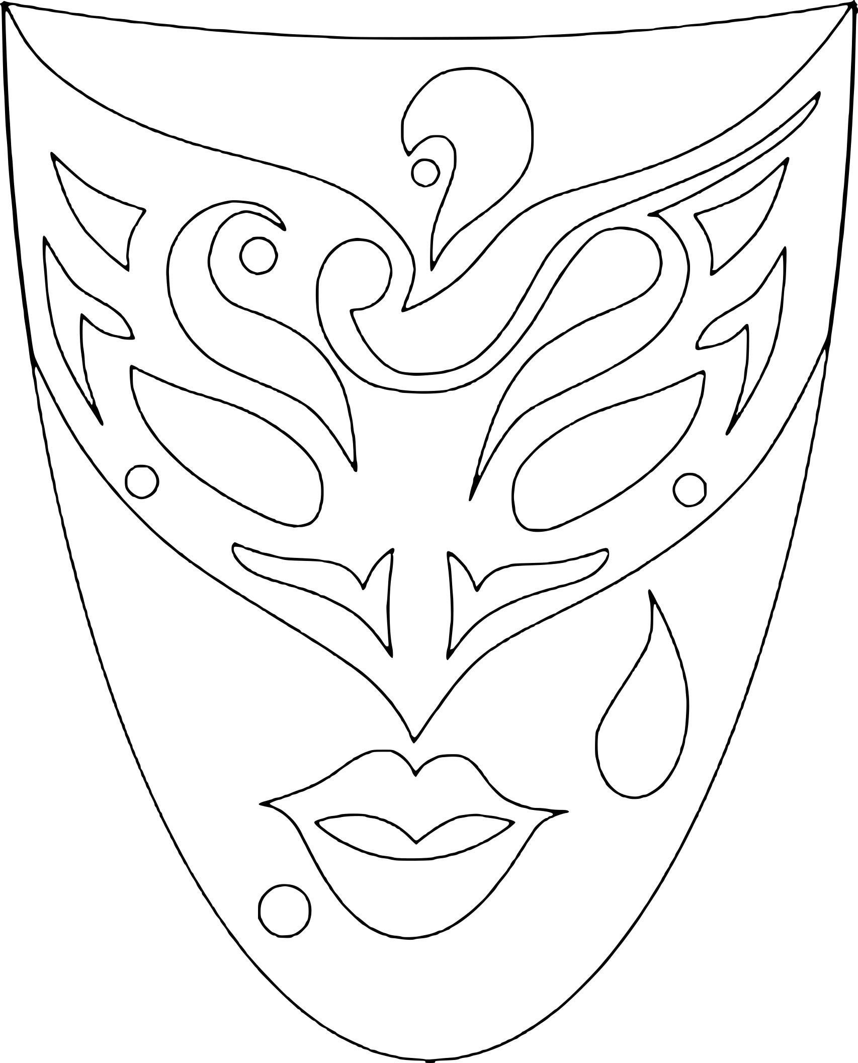 Coloriage Masque Carnaval Venise à Masque Papillon À Imprimer