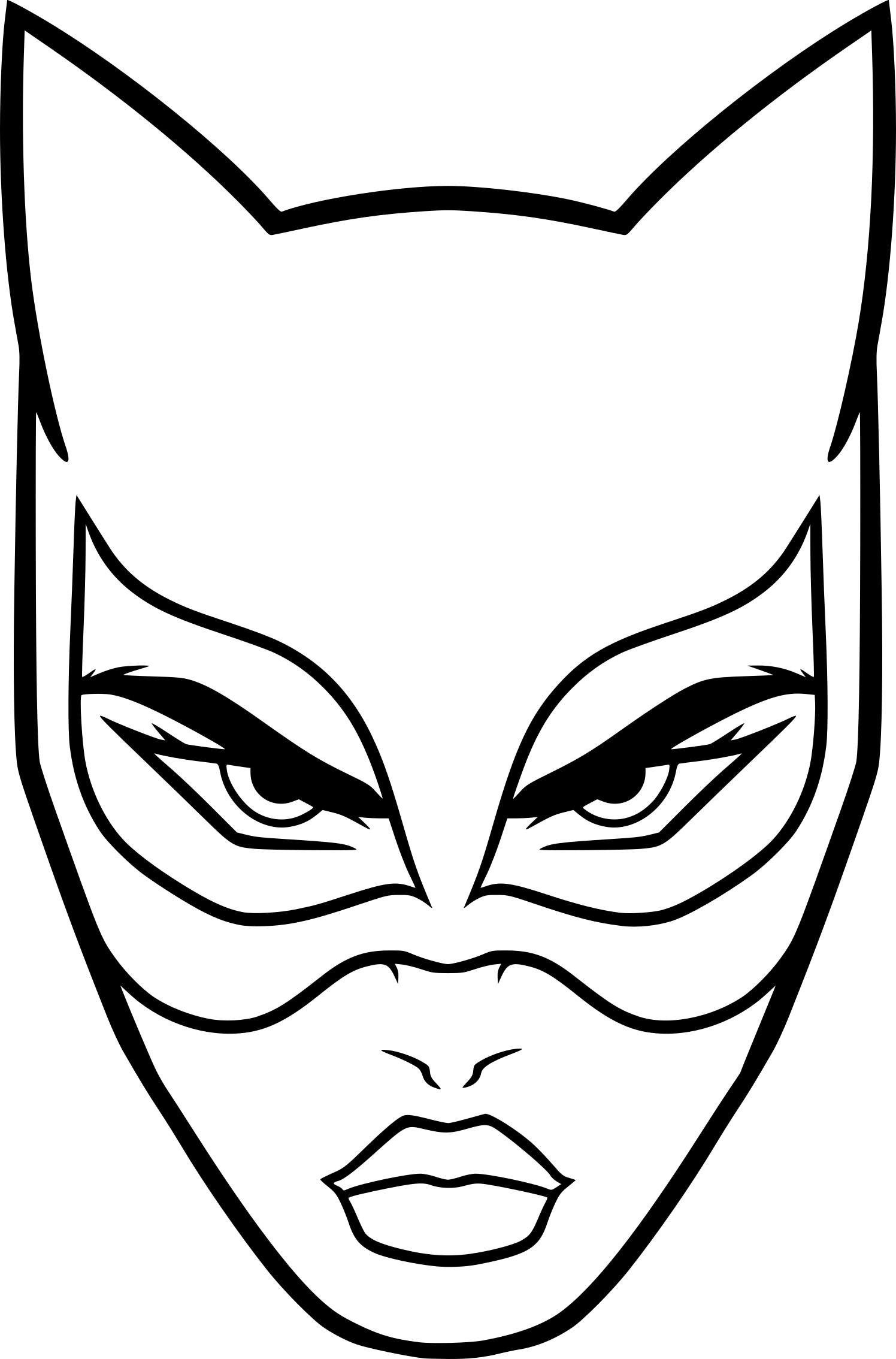 Coloriage Masque Catwoman À Imprimer Sur Coloriages avec Masque De Catwoman A Imprimer