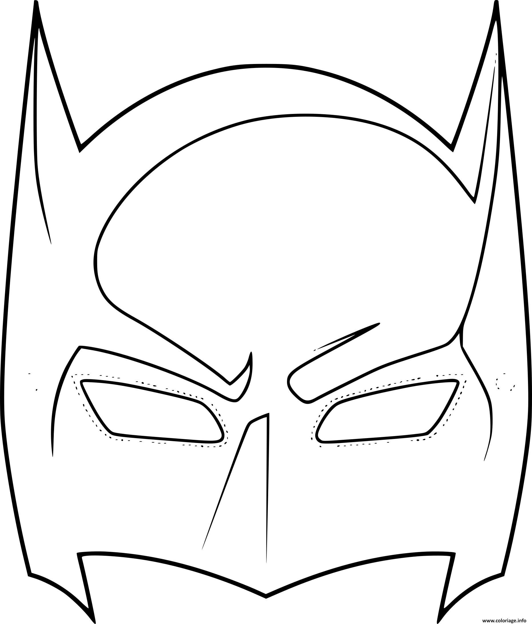 Coloriage Masque De Batman Dessin destiné Masque Spiderman A Imprimer