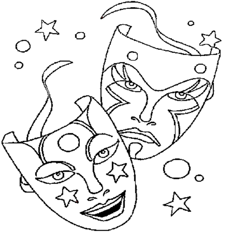 Coloriage Masque De Carnaval En Ligne Gratuit À Imprimer à Modele Masque De Carnaval A Imprimer