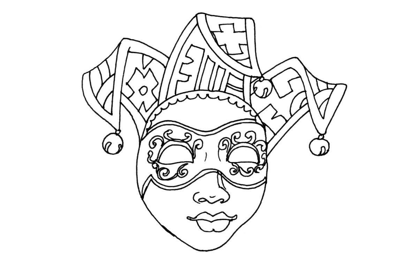 Coloriage Masque De Carnaval Venise À Imprimer à Modele Masque De Carnaval A Imprimer