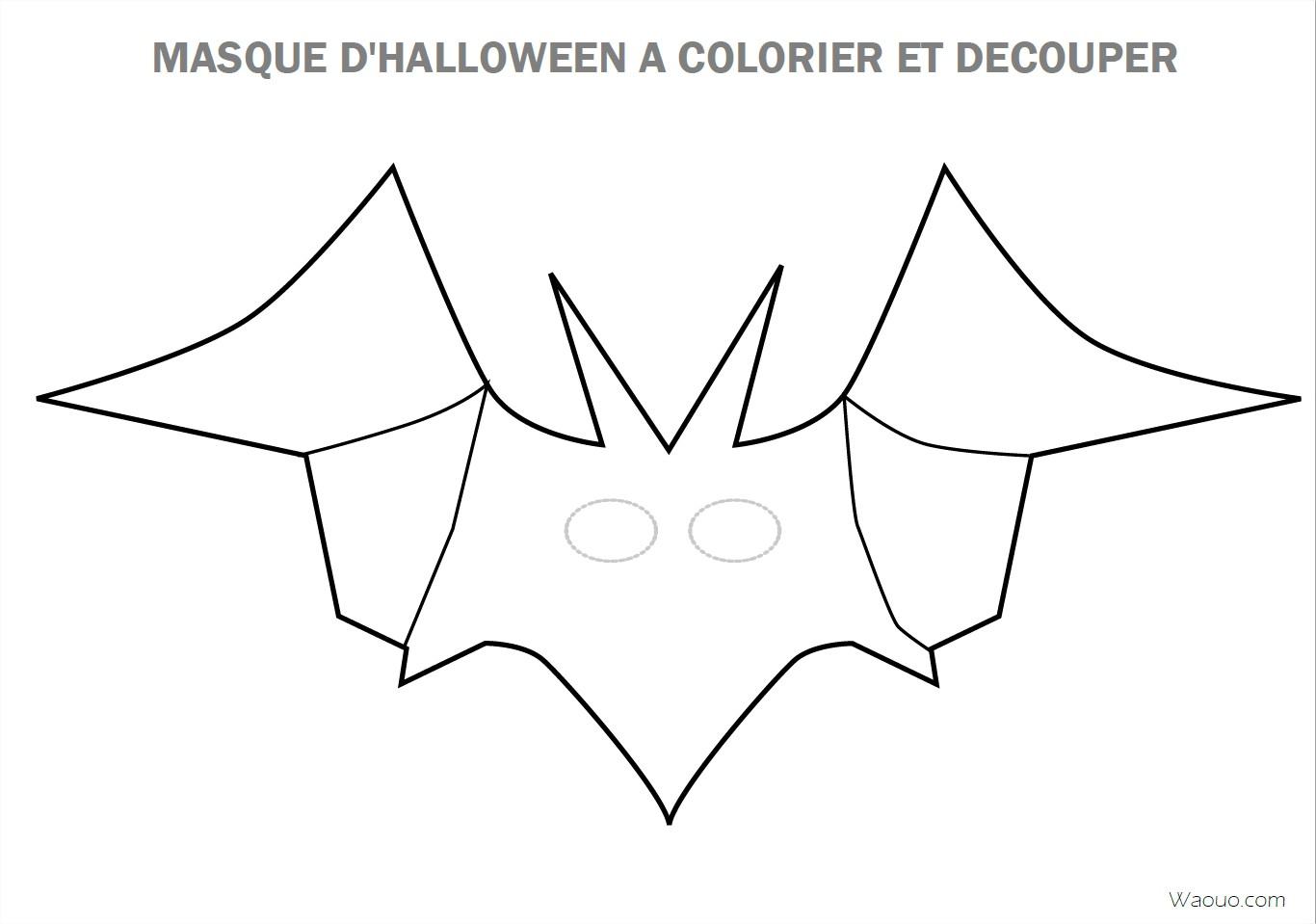 Coloriage Masque D'halloween À Imprimer Et Découper avec Dessin A Decouper