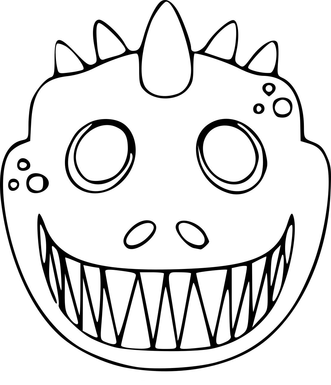 Coloriage Masque Dinosaure À Imprimer Sur Coloriages avec Masque Enfant A Colorier