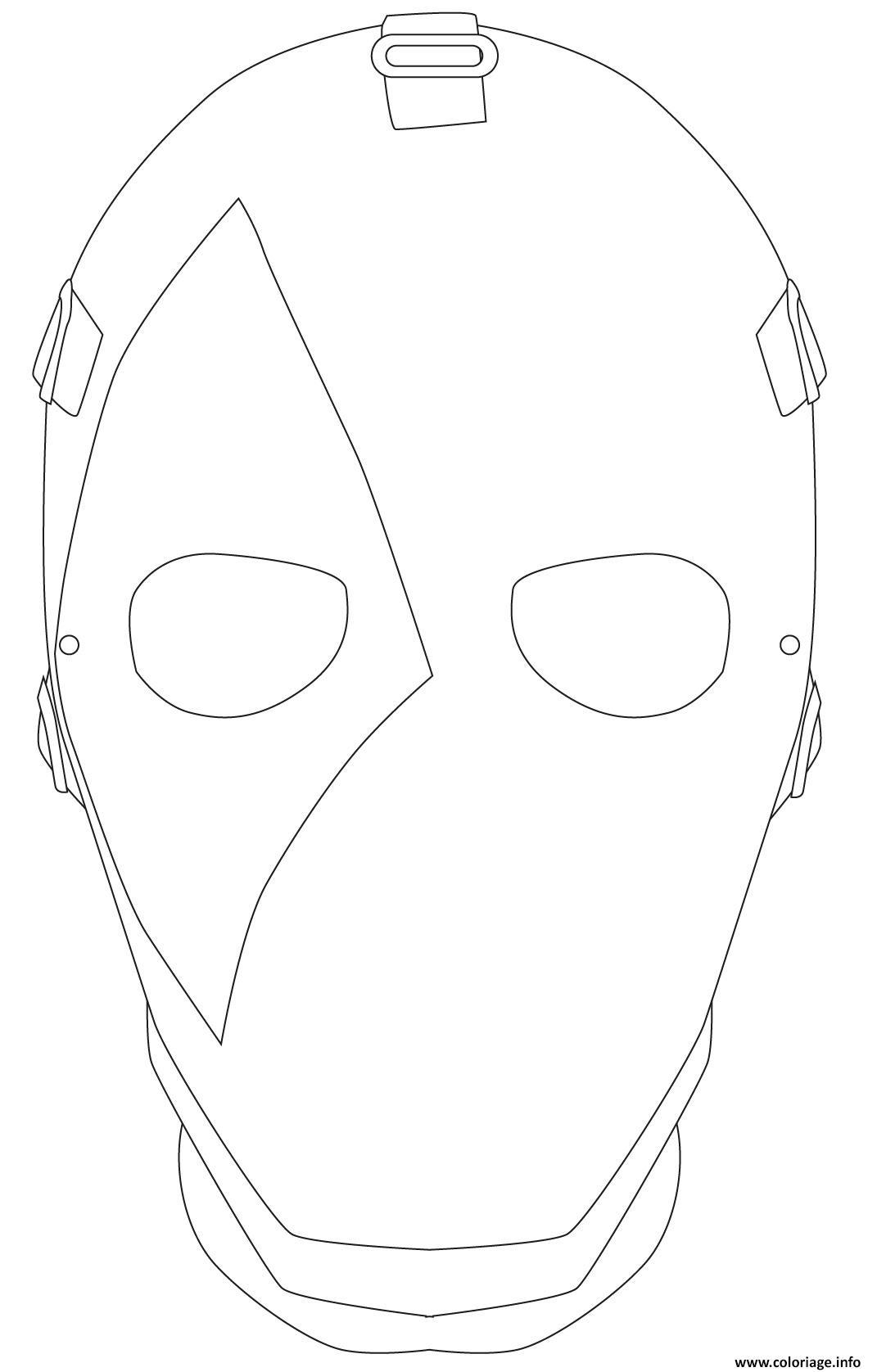 Coloriage Masque Fortnite Joker Carreau Colorier Dessin pour Masque Spiderman A Imprimer