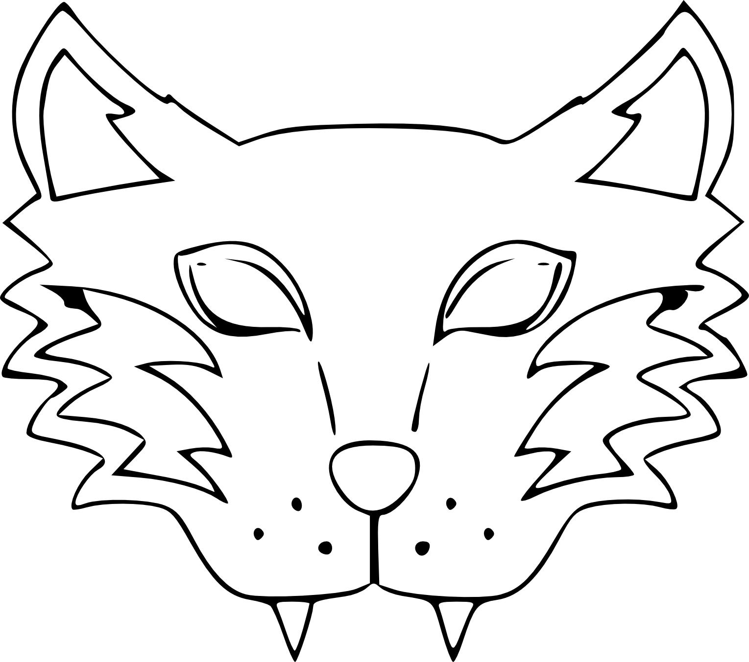 Coloriage Masque Loup-Garou À Imprimer à Masques Animaux À Imprimer