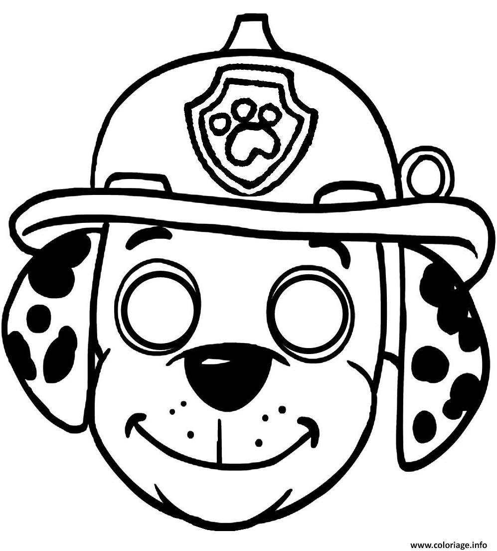 Coloriage Masque Pat Patrouille Dessin à Masques Animaux À Imprimer