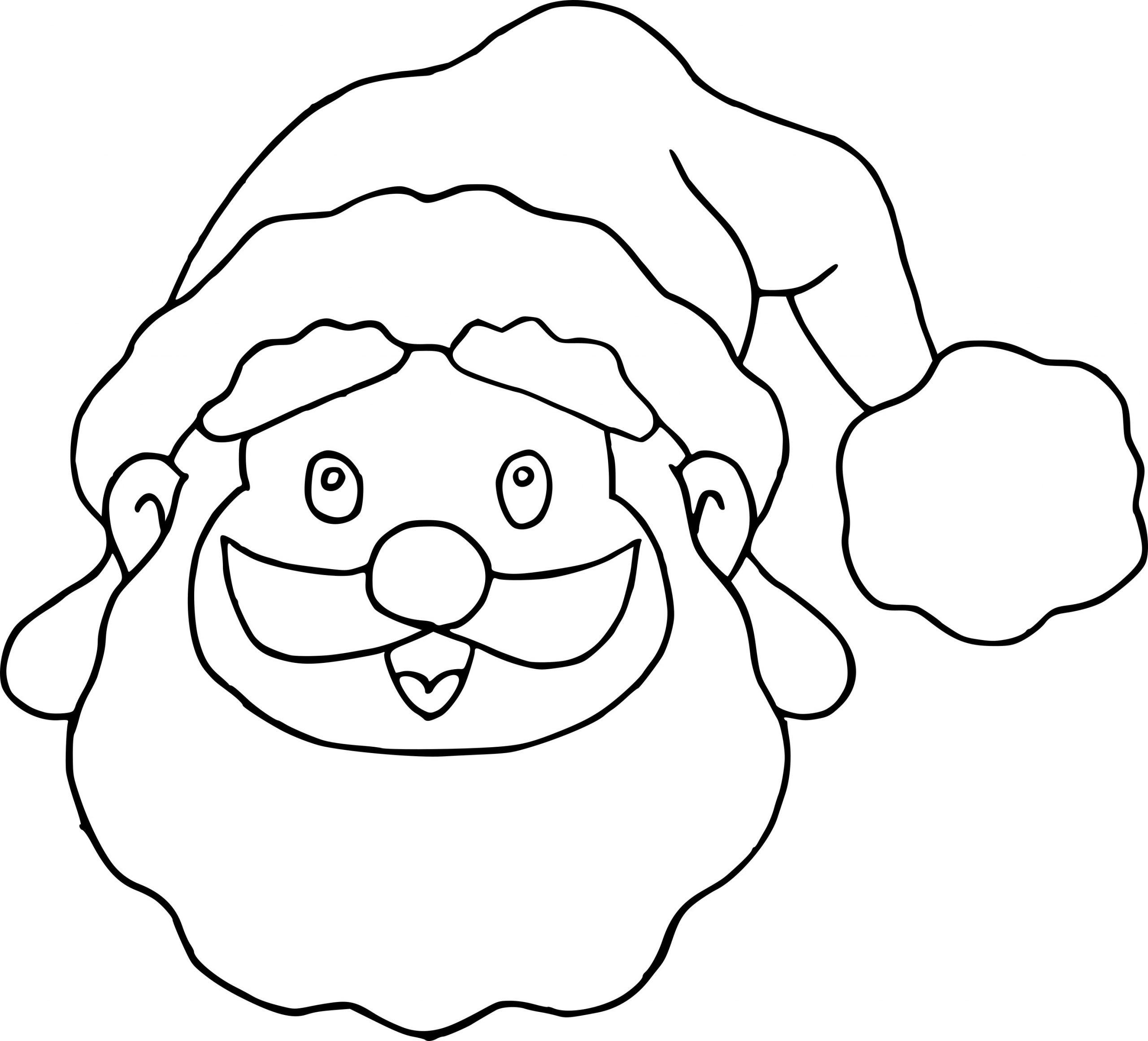 Coloriage Masque Père Noël À Imprimer Sur Coloriages avec Coloriage De Père Noel Gratuit A Imprimer