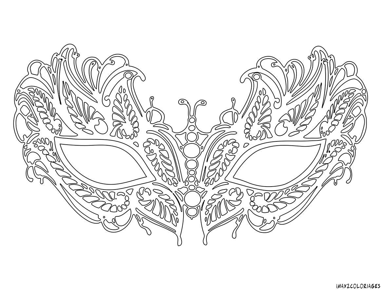 Coloriage Masque Vénitien Lafayette Grande Image | Coloriage destiné Masque Loup A Colorier