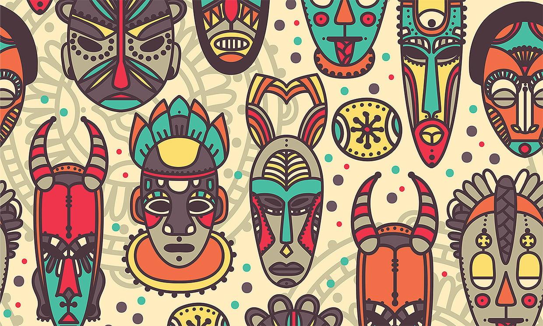 Coloriage Masques Africains Sur Hugolescargot avec Jeux Africains Pour Enfants