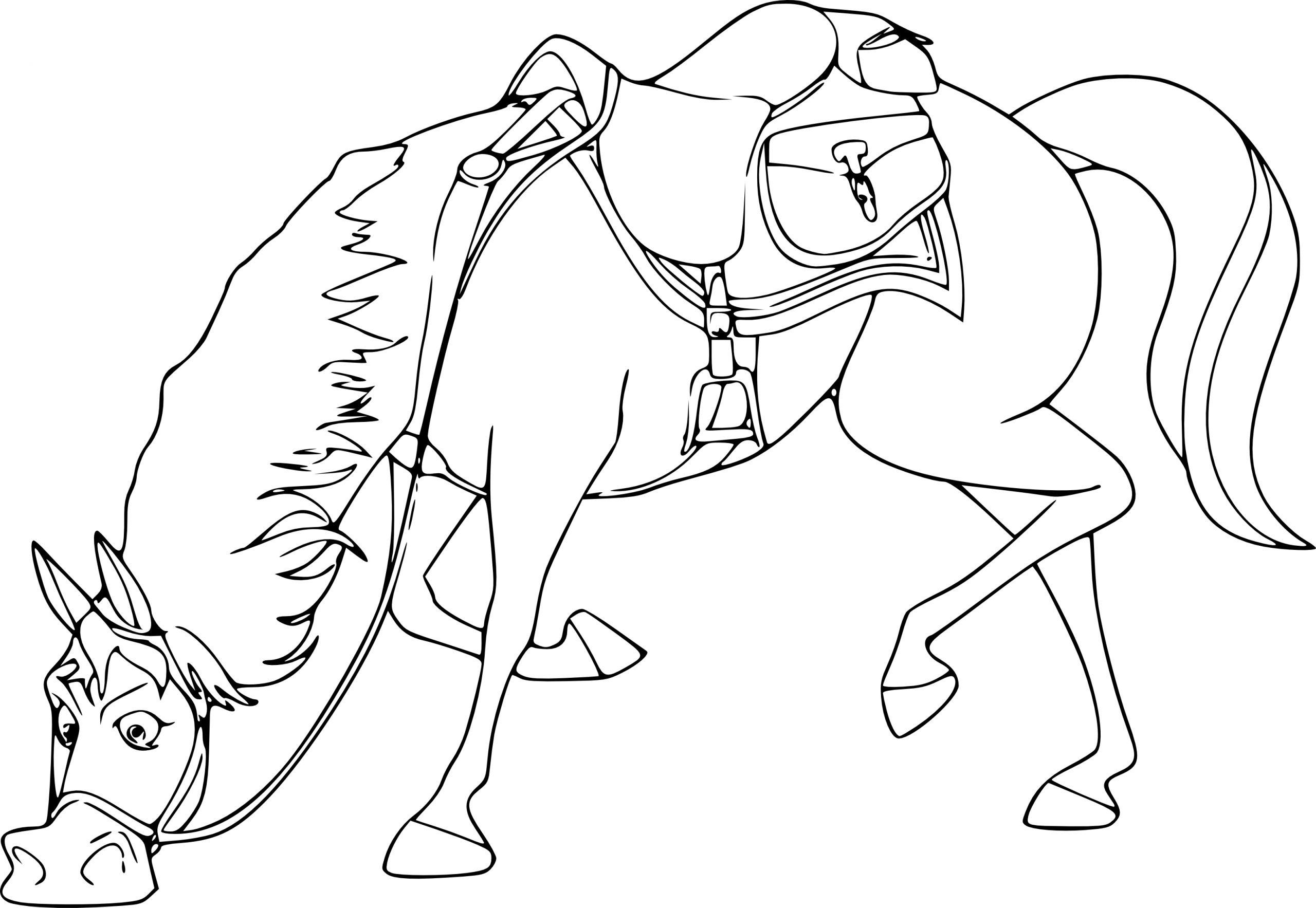 Coloriage Maximus Le Cheval Dans Raiponce À Imprimer concernant Dessin De Cheval A Colorier