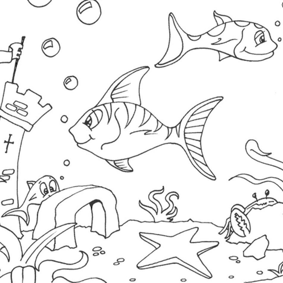 Coloriage Mer Poisson A Imprimer Gratuit Free Image à Coloriage Sur La Mer À Imprimer