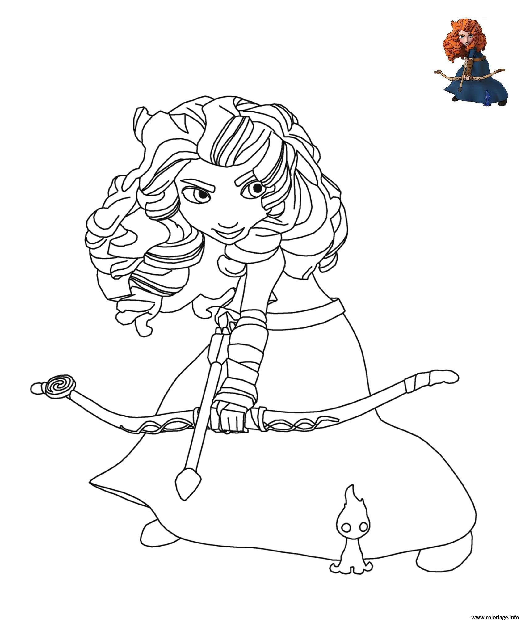 Coloriage Merida La Princesse Rebelle De Disney Dessin à Dessin De Rebelle