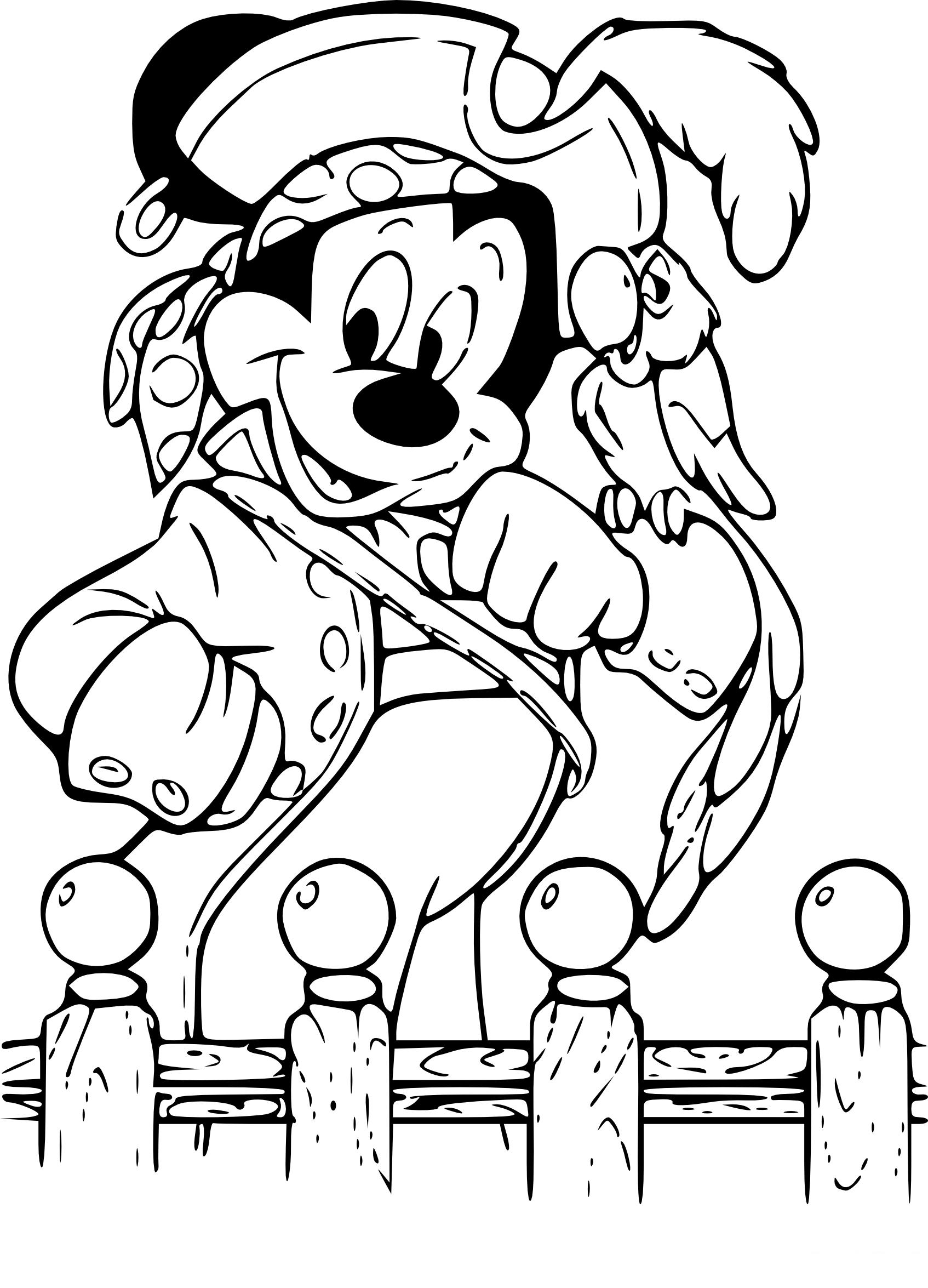 Coloriage Mickey Pirate À Imprimer tout Dessin A Imprimer De Pirate