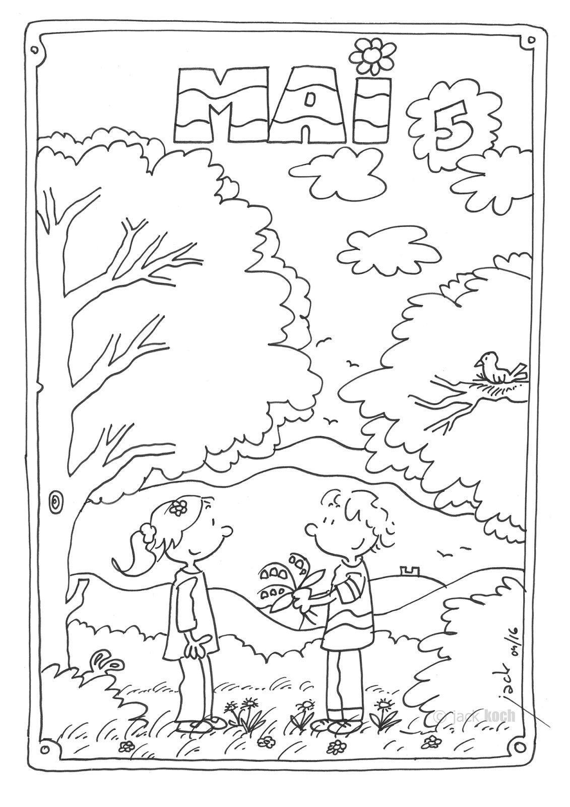 Coloriage Mois Mai Maternelle | Coloriage, Maternelle avec Mois À Colorier Maternelle