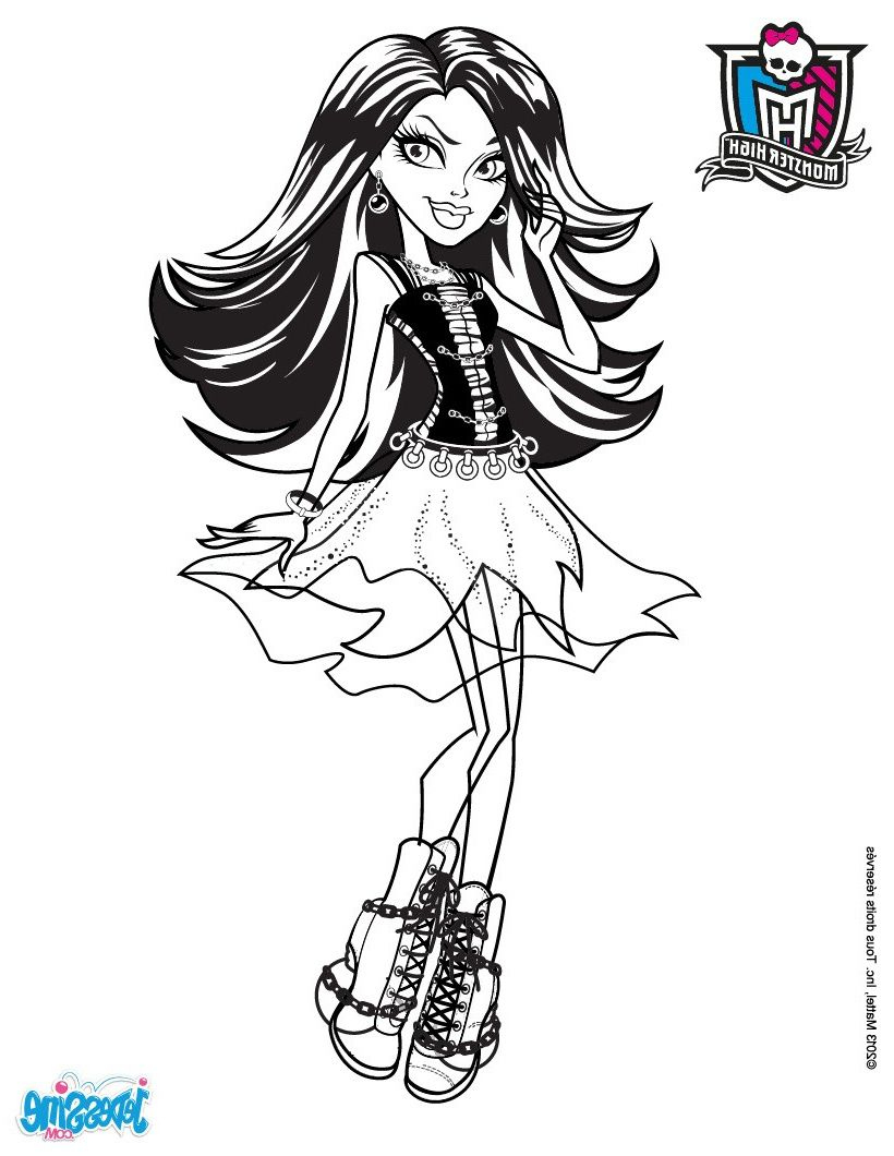 Coloriage Monster . 12 Joyeux Coloriage Monster Gallery à Image Monster High A Imprimer