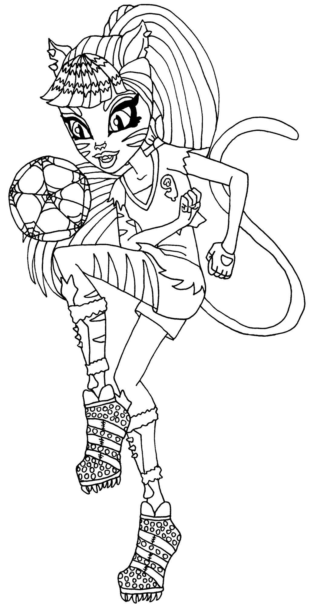 Coloriage Monster High Toralei À Imprimer destiné Image Monster High A Imprimer