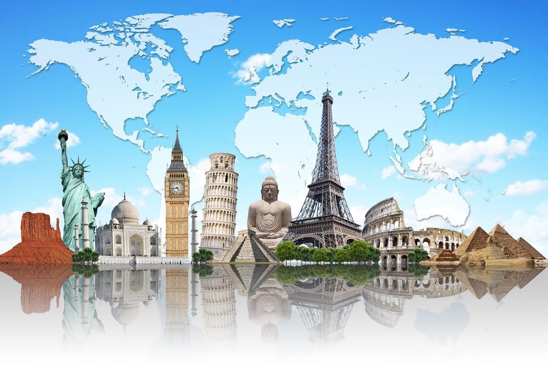 Coloriage Monuments Célèbres Sur Hugolescargot intérieur Tous Les Coloriages Du Monde