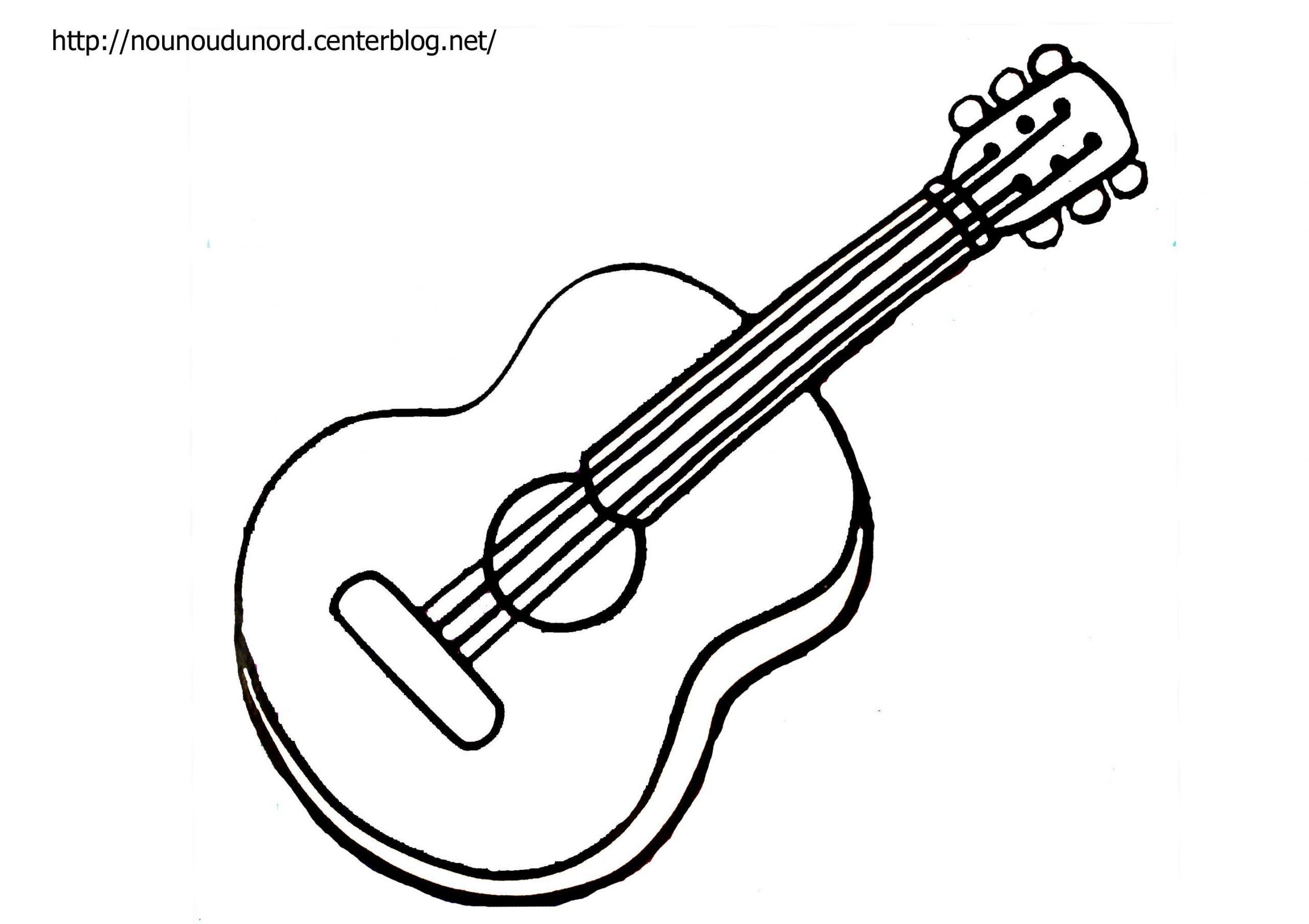 Coloriage Musique Instrument concernant Image Instrument De Musique À Imprimer