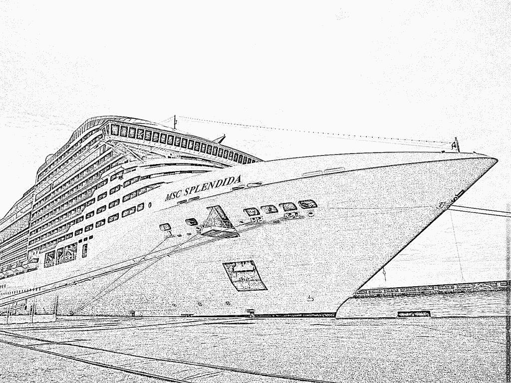 Coloriage Navire 27 À Imprimer Pour Les Enfants - Dessin encequiconcerne Paquebot Dessin