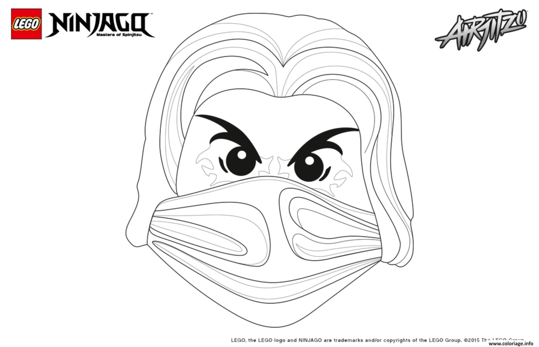 Coloriage Ninjago Lego Visage Jay Dessin intérieur Visage À Colorier