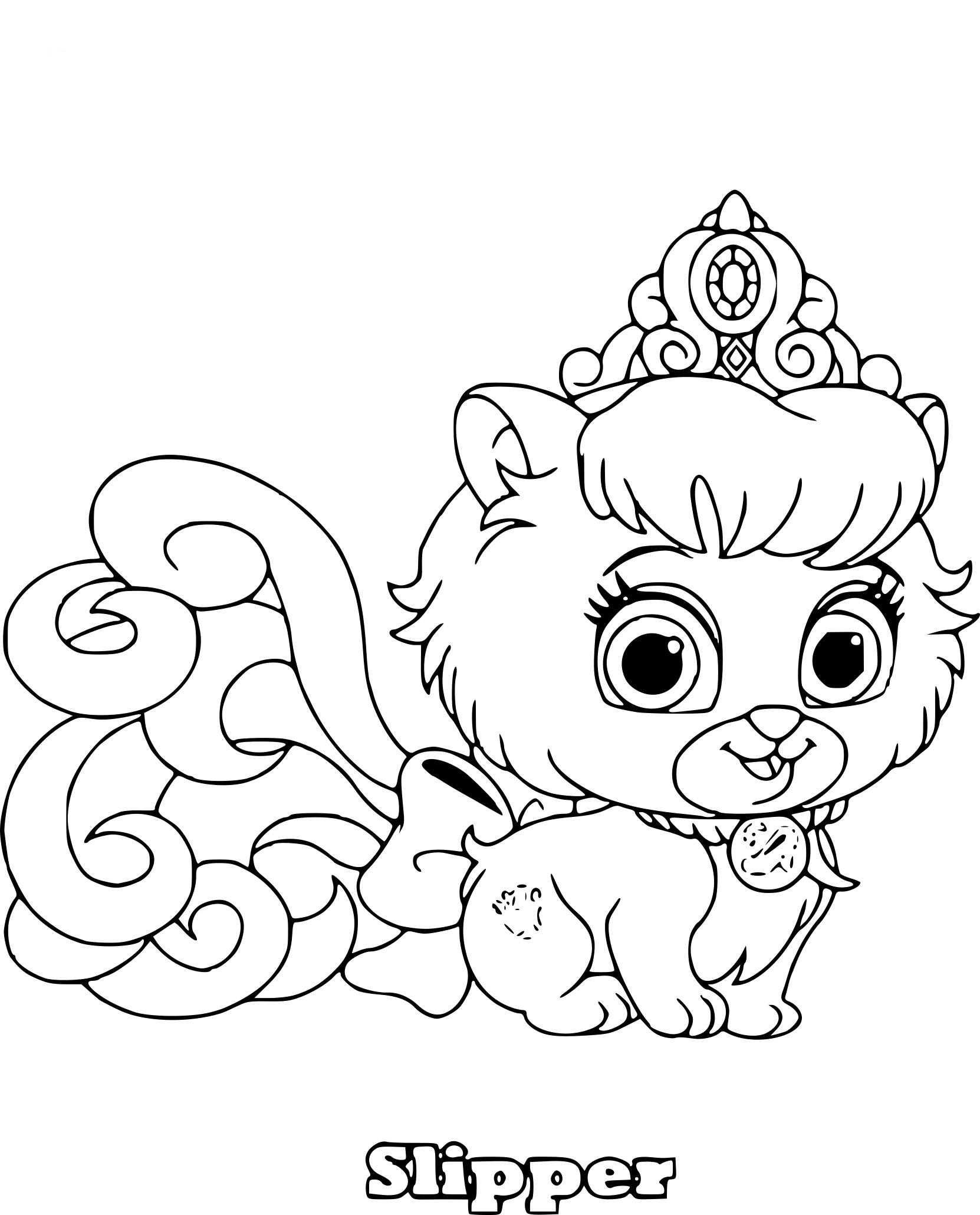 Coloriage Palace Pets Chien Cendrillon À Imprimer Gratuit encequiconcerne Cendrillon À Colorier