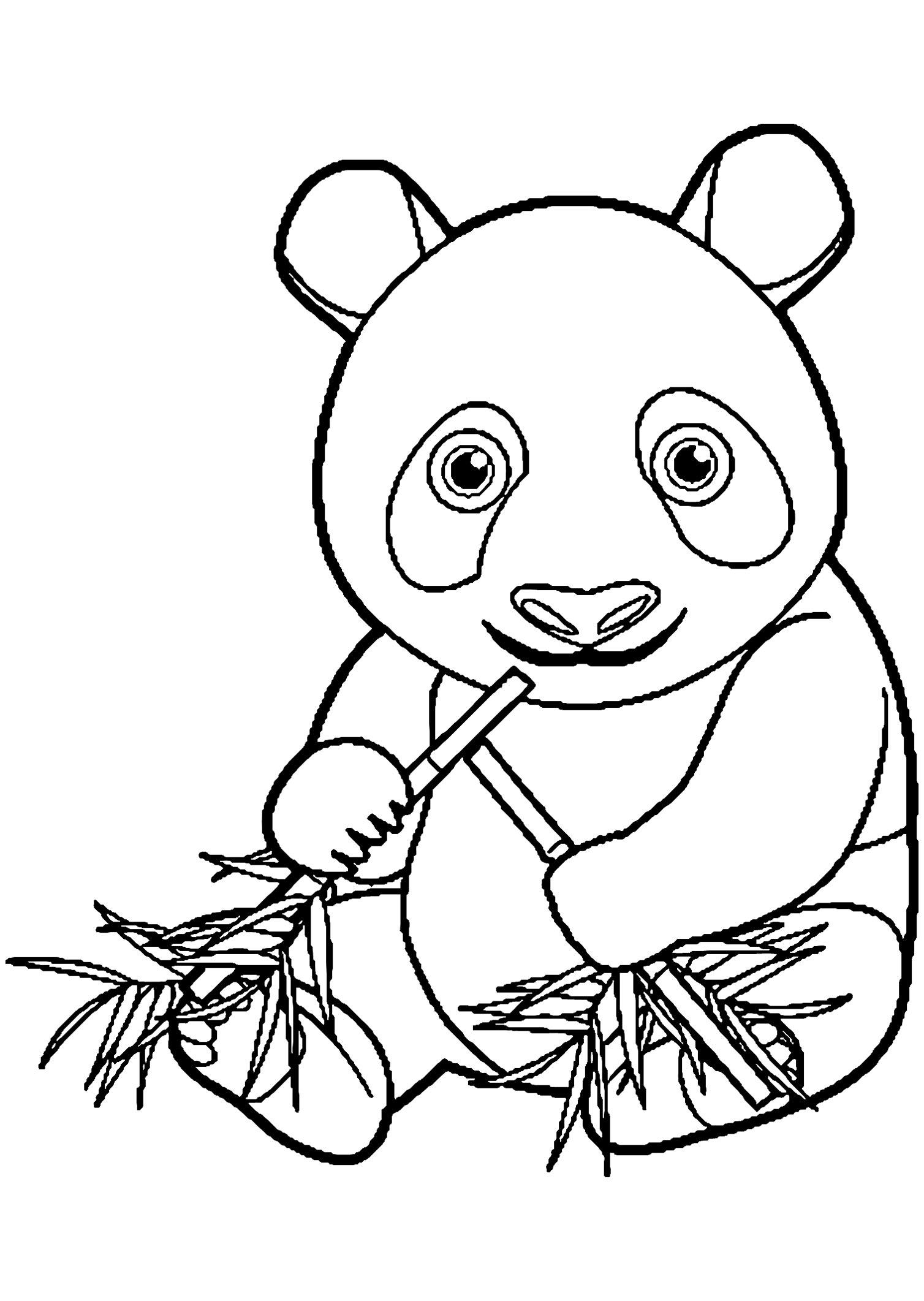 Coloriage Panda 30 Dessins De Imprimer #14795 Tout Panda A destiné Panda À Colorier