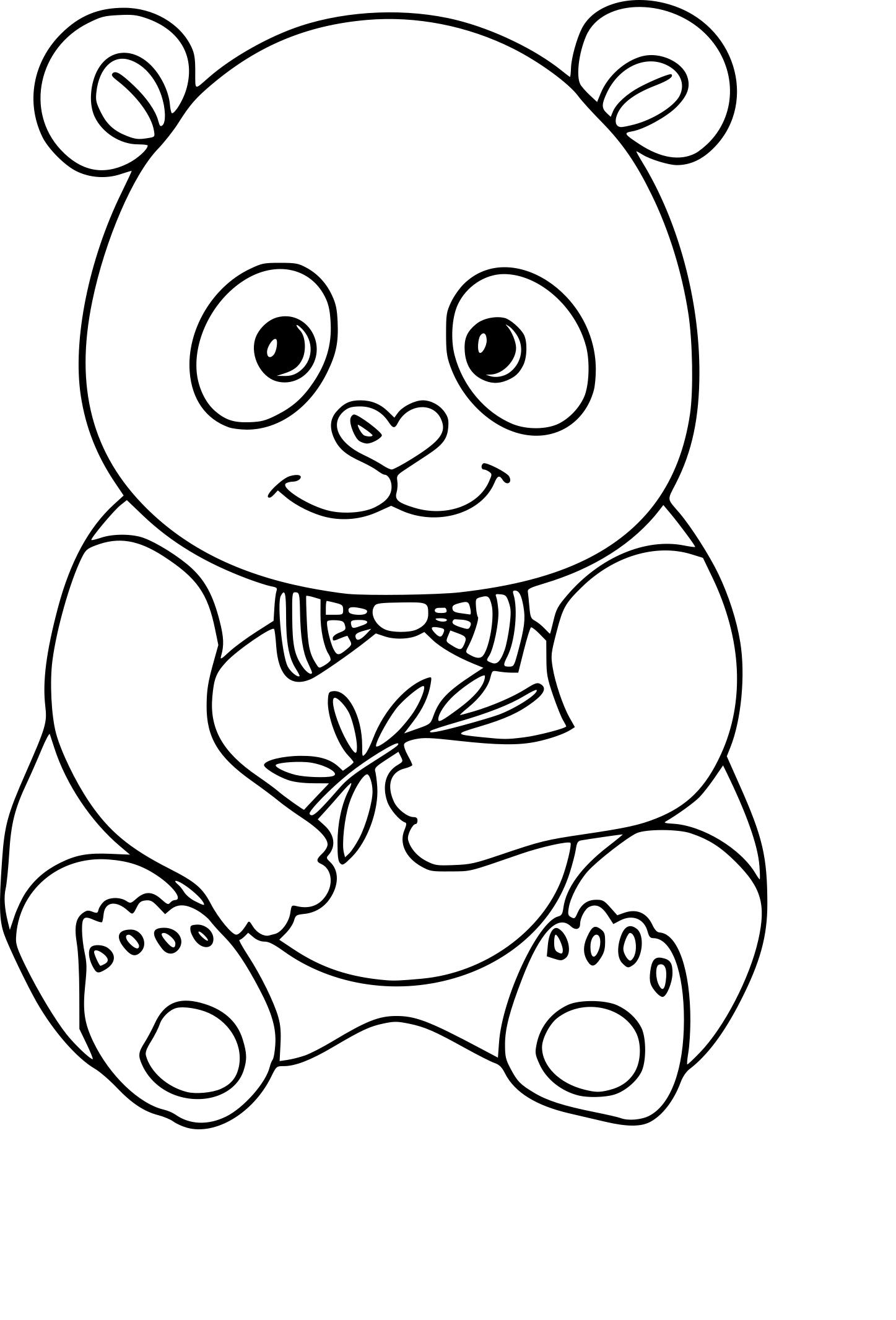 Coloriage Panda À Imprimer intérieur Panda À Colorier