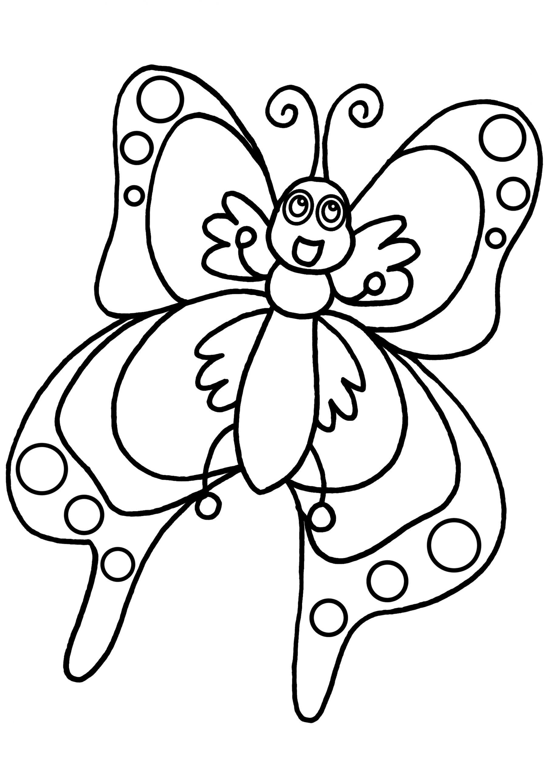 Coloriage Papillon - Les Beaux Dessins De Animaux À Imprimer destiné Papillon À Dessiner