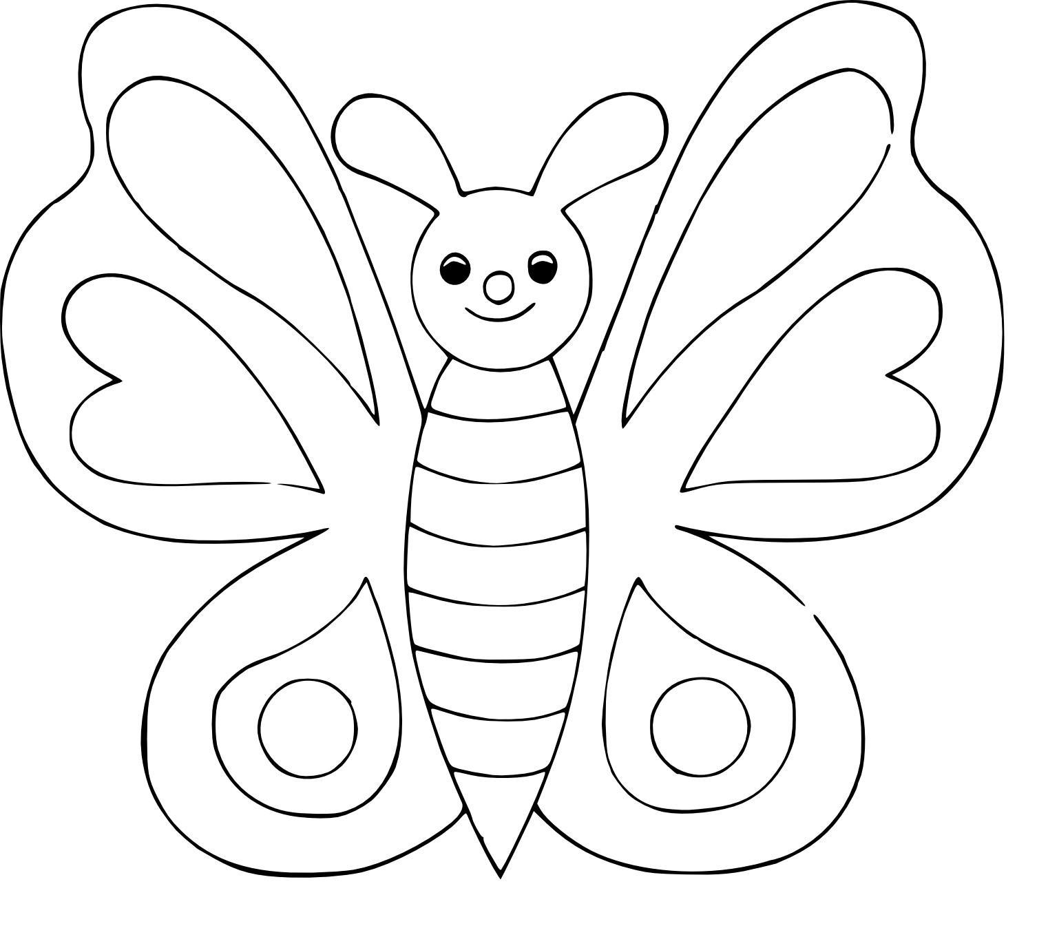 Coloriage Papillon Simple À Imprimer pour Dessin Papillon À Colorier