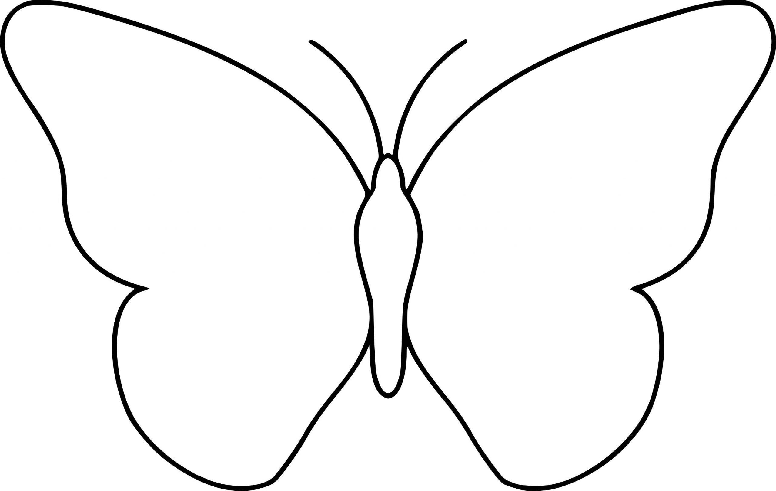 Coloriage Papillon Simple À Imprimer Sur Coloriages Destinés à Dessin Papillon À Colorier