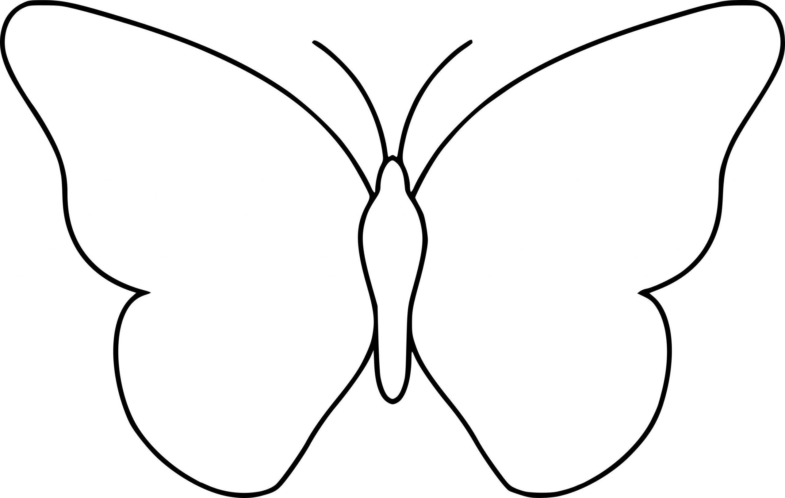Coloriage Papillon Simple À Imprimer Sur Coloriages tout Dessin A Imprimer Papillon Gratuit
