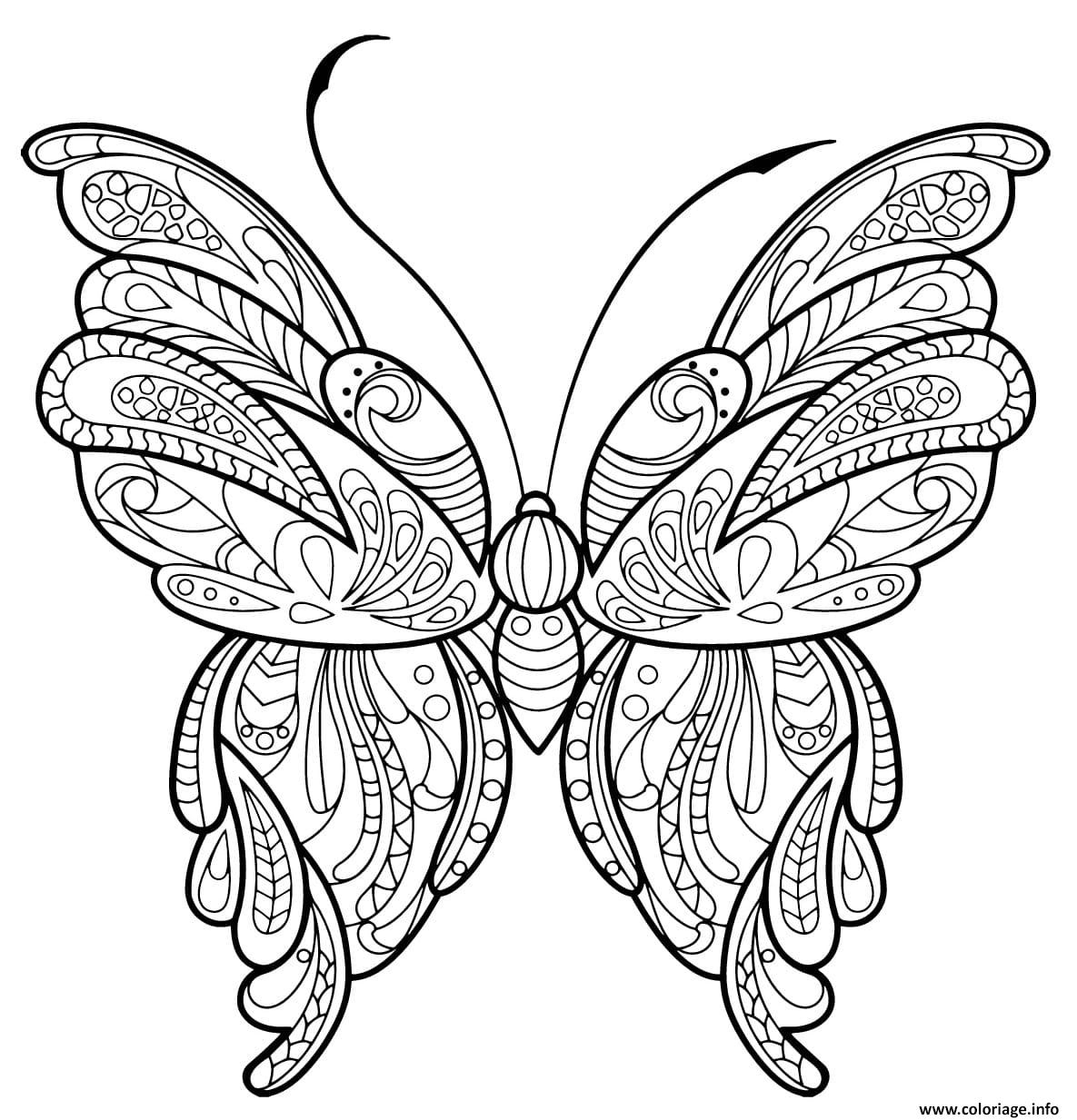 Coloriage Papillon Zentangle Jolis Motifs 16 Dessin à Dessin A Imprimer Papillon Gratuit