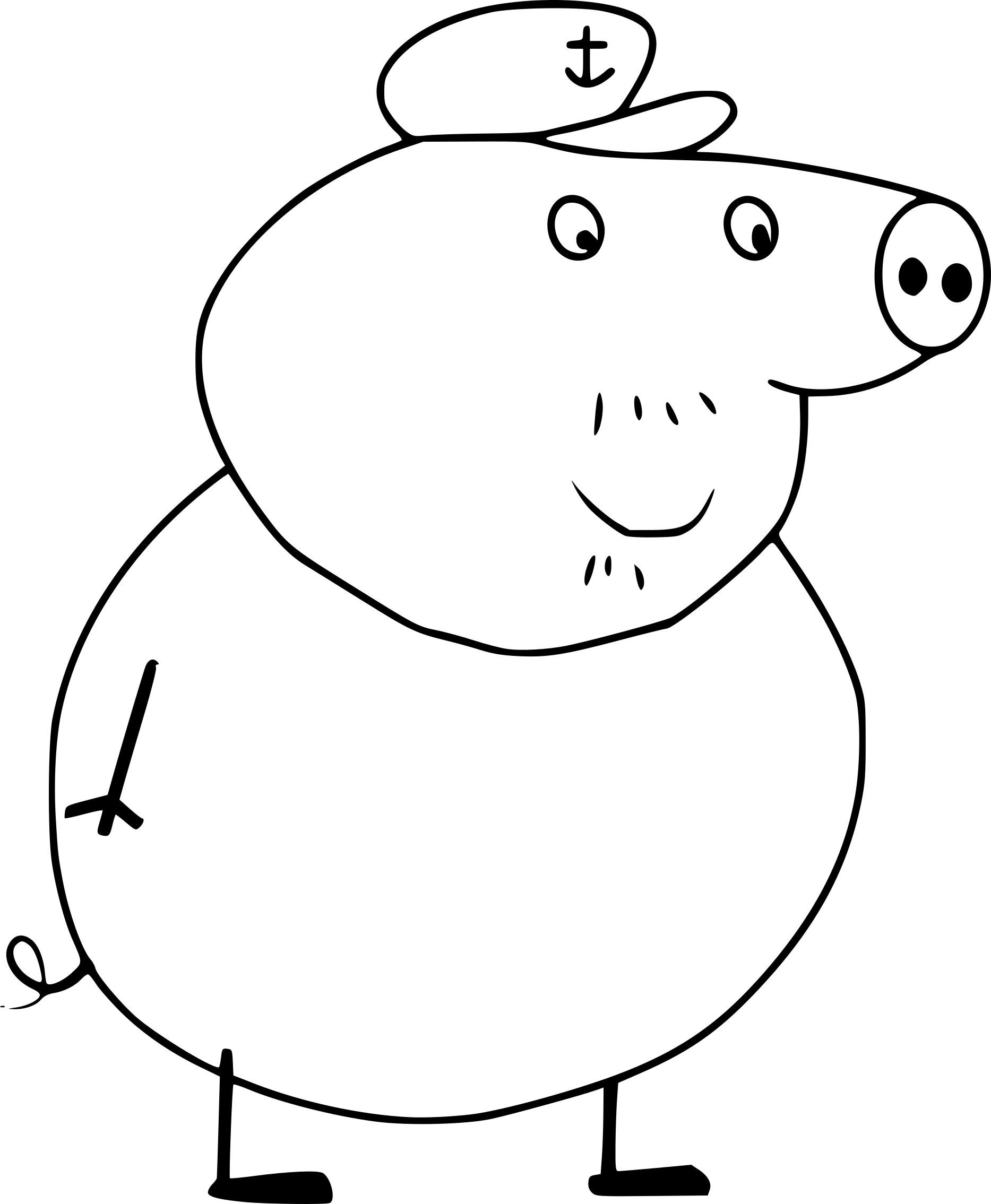 Coloriage Papy Cochon Dans Peppa Pig À Imprimer à Dessin Cochon A Colorier