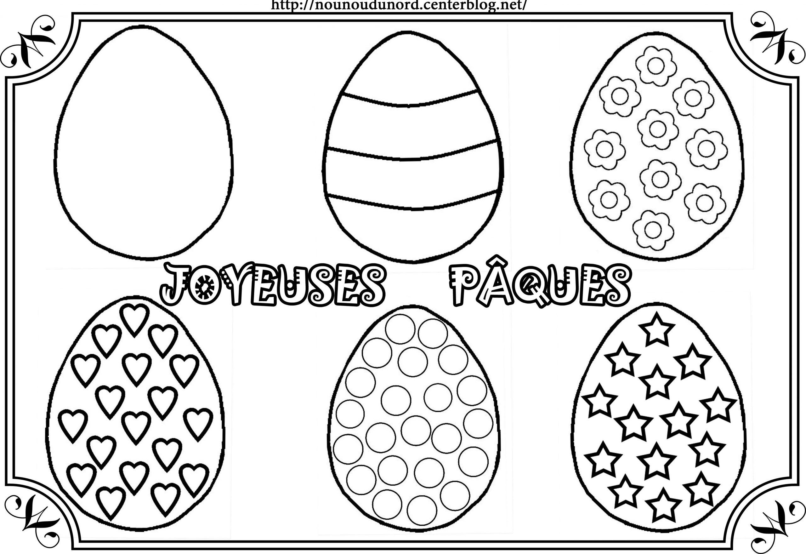 Coloriage Paques - Les Beaux Dessins De Fêtes À Imprimer Et à Dessin Pour Paques