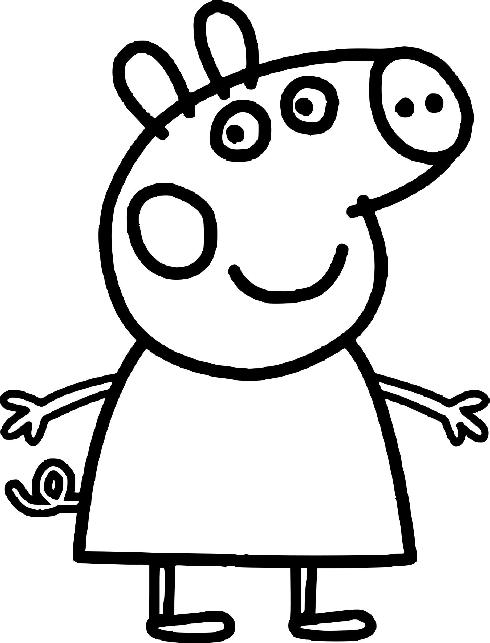 Coloriage Peppa Cochon À Imprimer Sur Coloriages avec Peppa Pig A Colorier