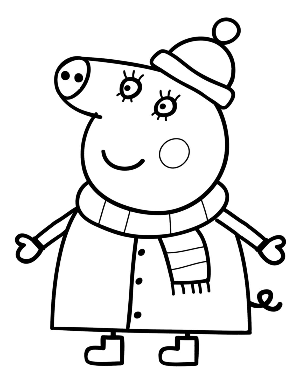 Coloriage Peppa Pig À Colorier - Dessin À Imprimer | Peppa intérieur Peppa Pig A Colorier