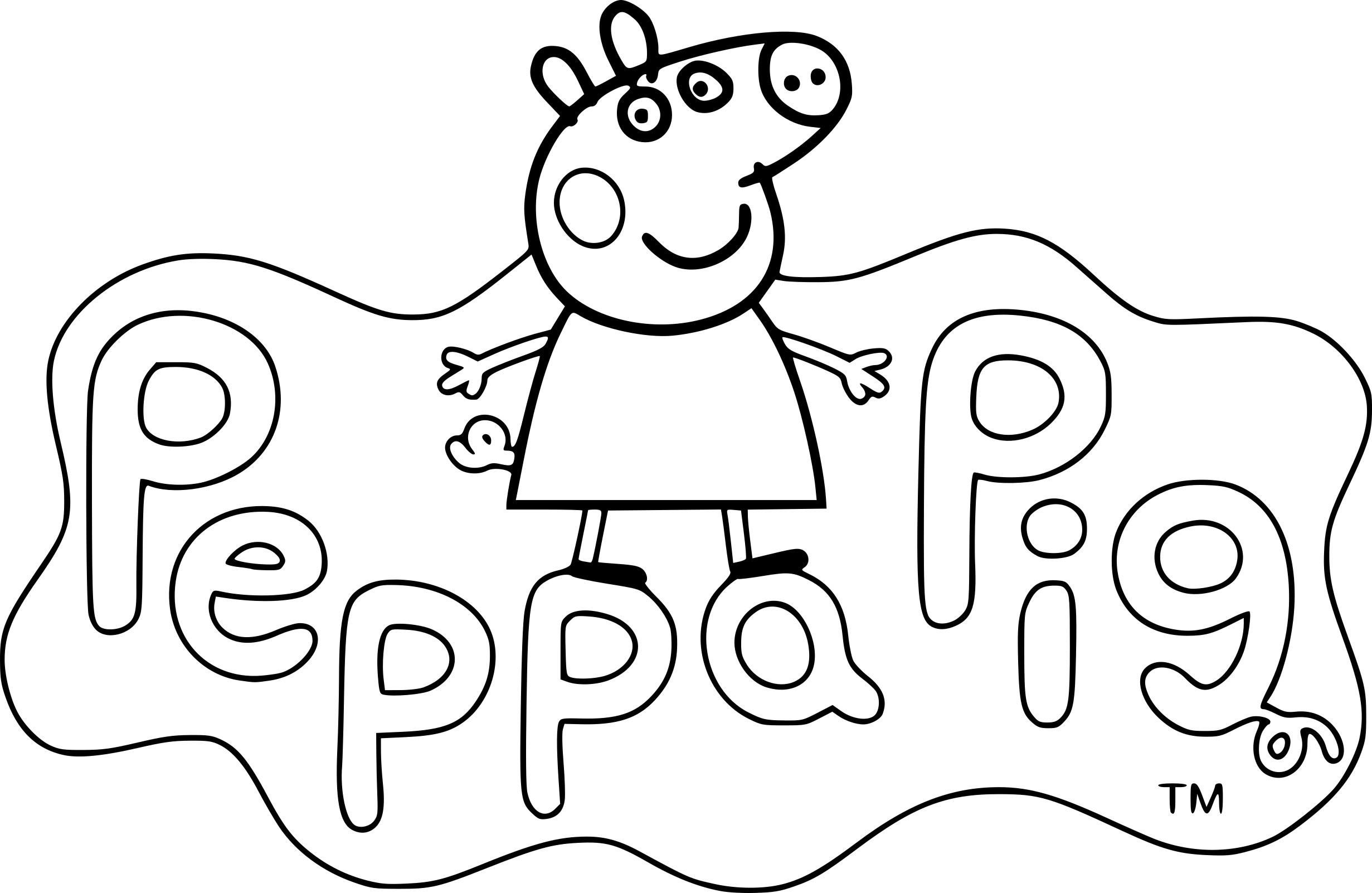 Coloriage Peppa Pig Dessin À Imprimer Sur Coloriages pour Peppa Pig A Colorier