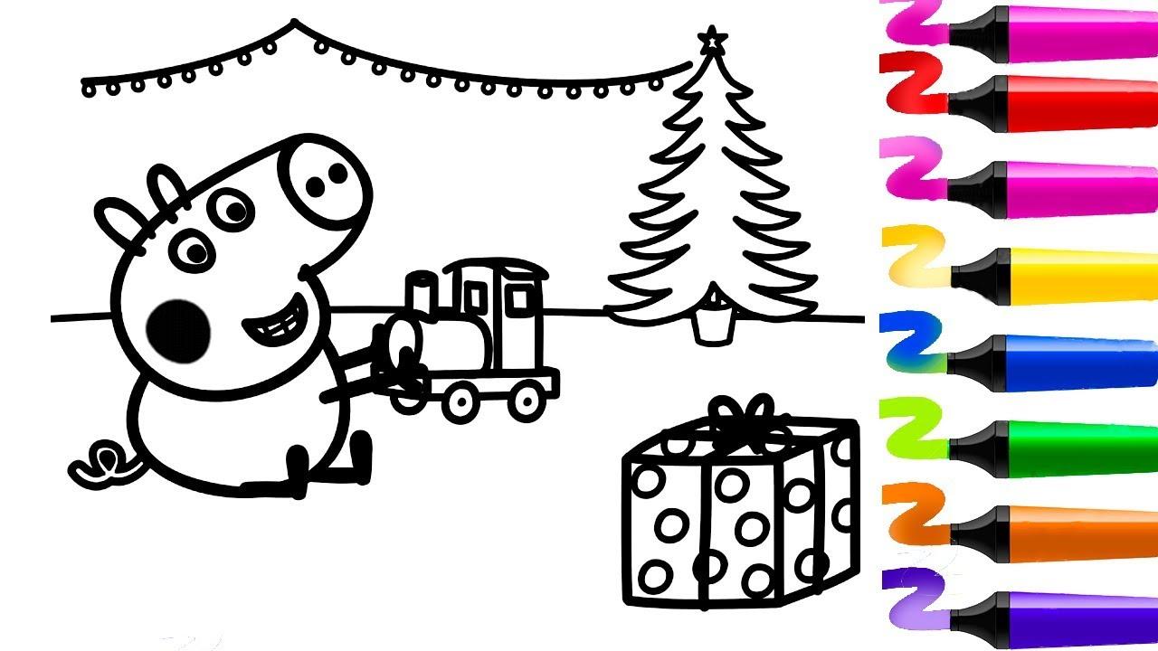 Coloriage Peppa Pig Noël! Dessin Facile Peppa Pig? Coloriage destiné Peppa Pig A Colorier