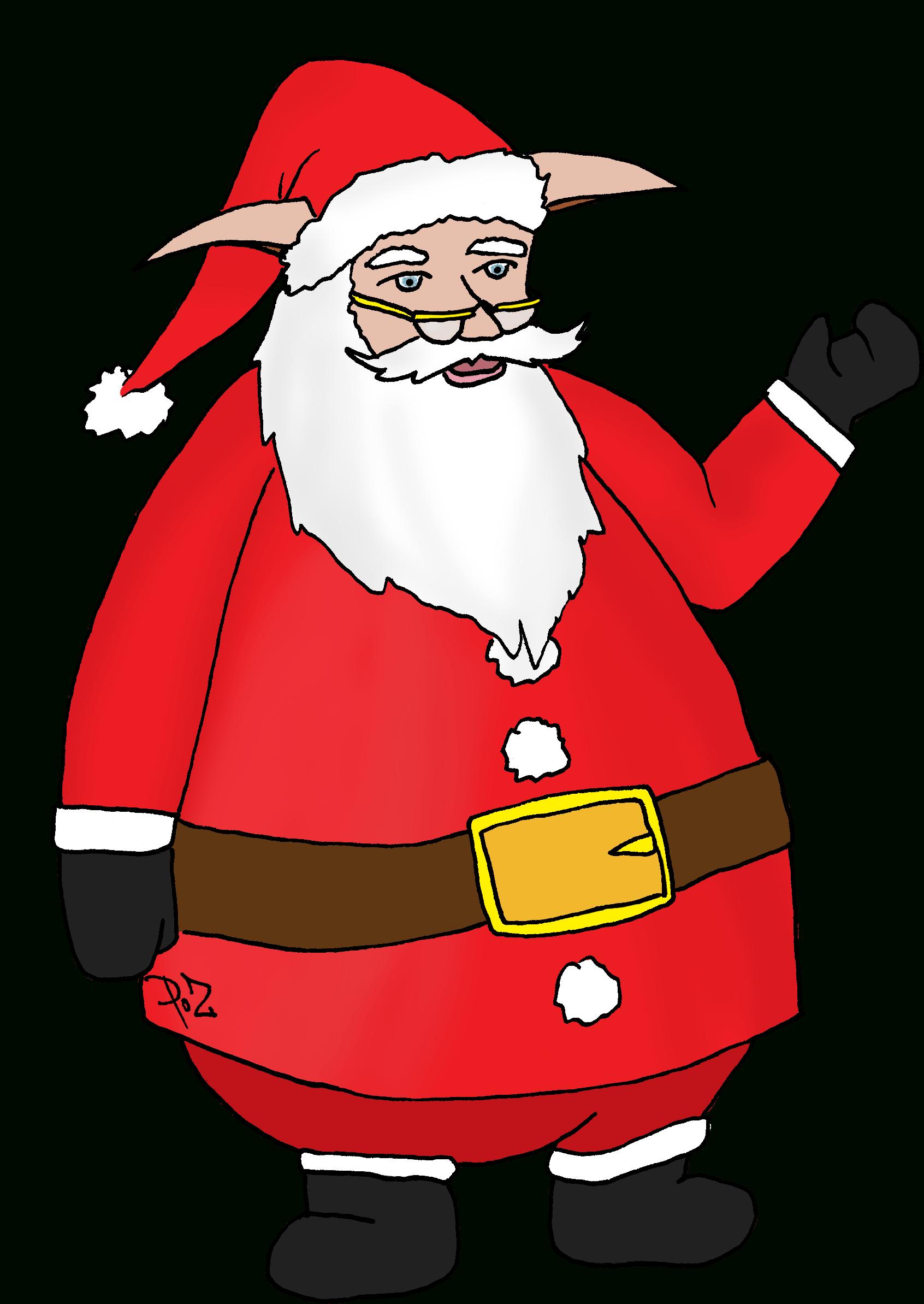 Coloriage Pere Noel A Imprimer Gratuit - Santa Claus Clipart pour Coloriage De Père Noel Gratuit A Imprimer