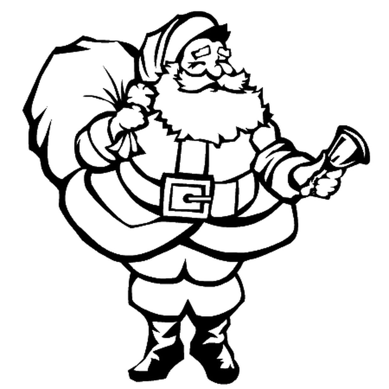 Coloriage Père Noël En Ligne Gratuit À Imprimer à Coloriage De Père Noel Gratuit A Imprimer