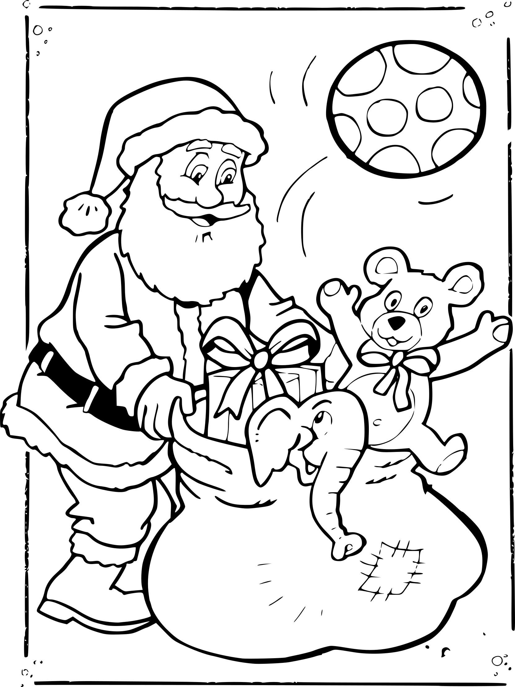 Coloriage Pere Noel Et Cadeaux À Imprimer Sur Coloriages concernant Dessins Pere Noel Imprimer