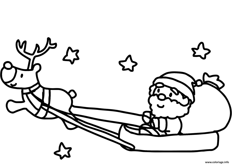 Coloriage Pere Noel Et Son Reine Avec Les Etoiles Dessin intérieur Coloriage Pere Noel À Imprimer Gratuit