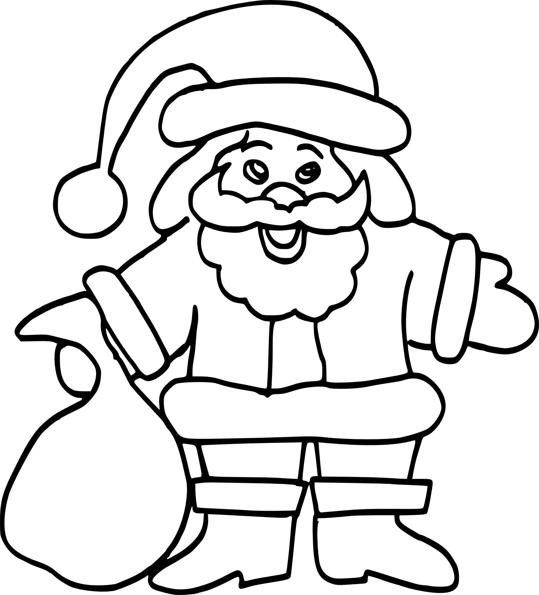 Coloriage Père Noël Facile À Imprimer avec Coloriage De Père Noel Gratuit A Imprimer