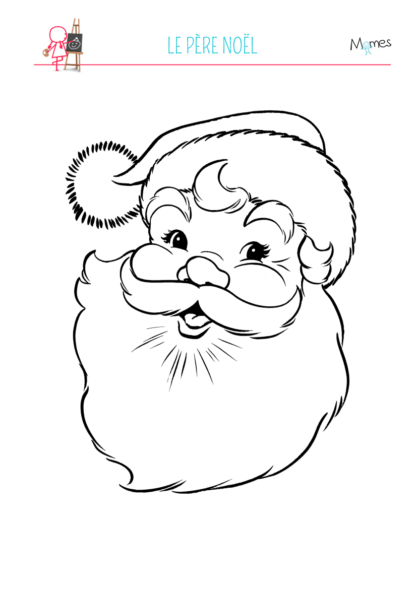 Coloriage Père Noël - Momes serapportantà Coloriage De Père Noel Gratuit A Imprimer