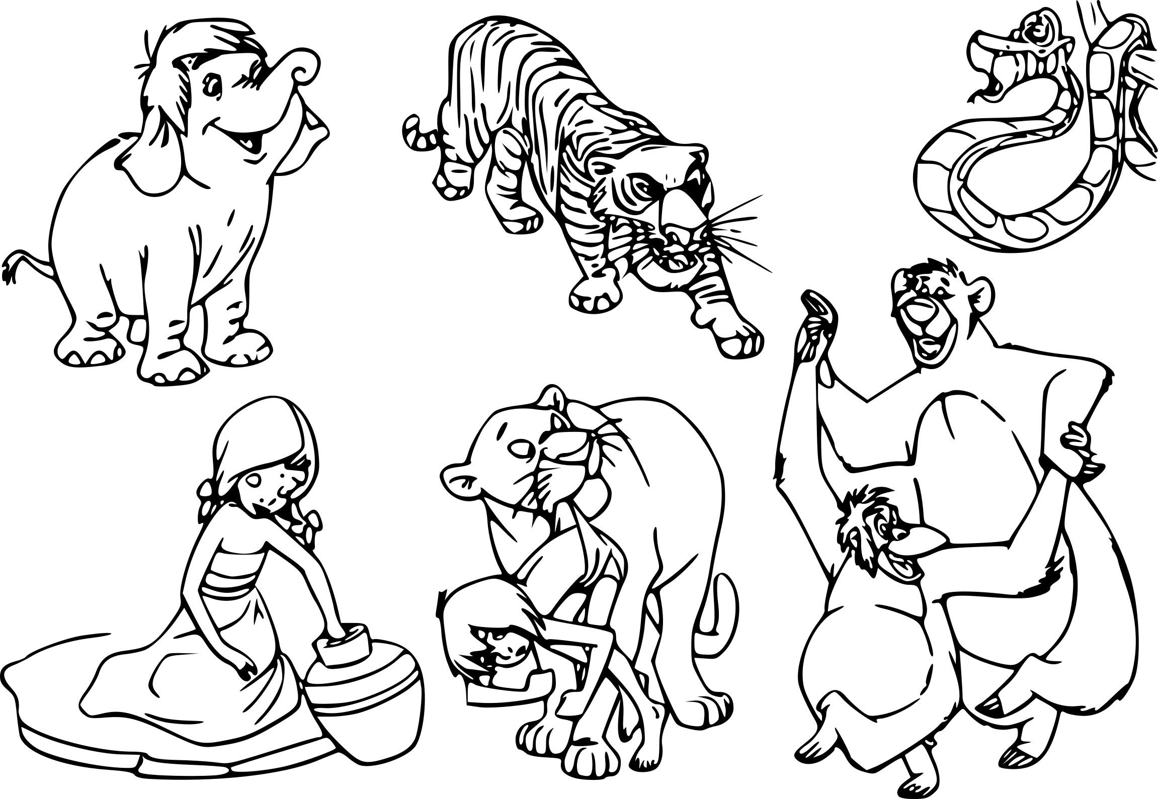 Coloriage Personnages Livre De La Jungle À Imprimer Sur avec Livre De Coloriage À Imprimer